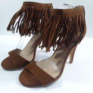 Torrid Ankle Fringe Heels